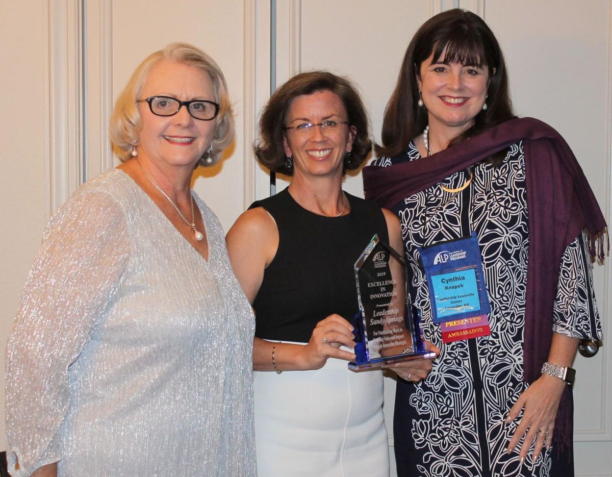 071719_MNS_Leadership_SS_award_001 Catherine Lautenbacher Lura Hammond Cynthia Knapek