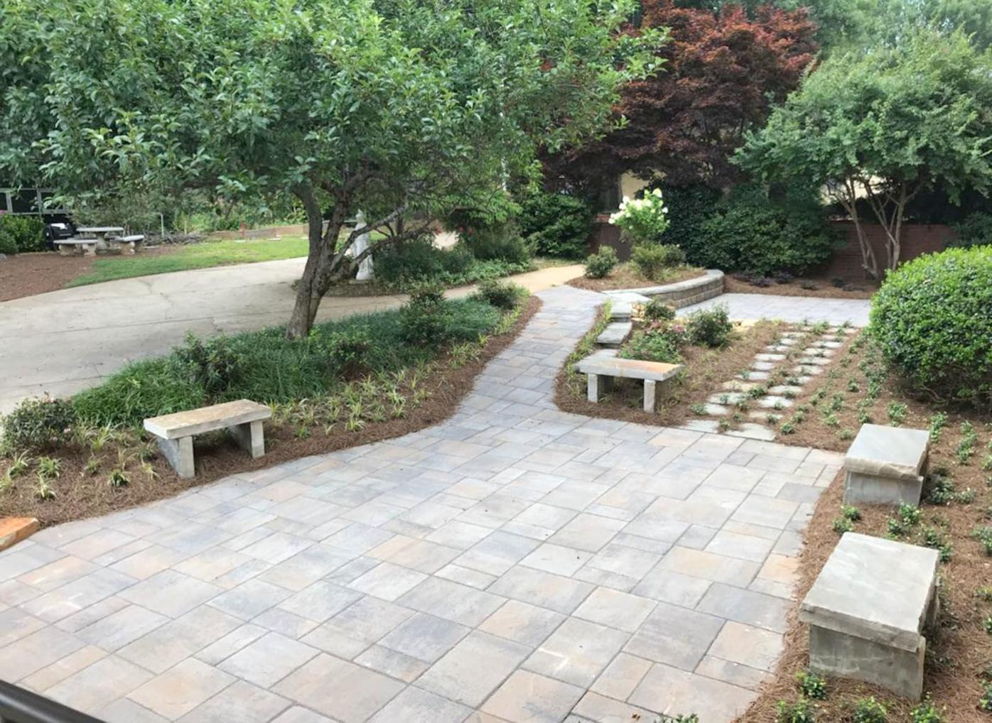 Holy Spirit courtyard