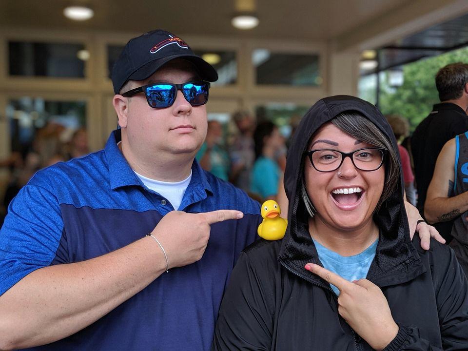 Duck race Garret and Lyndsay Ann Snyder.jpg