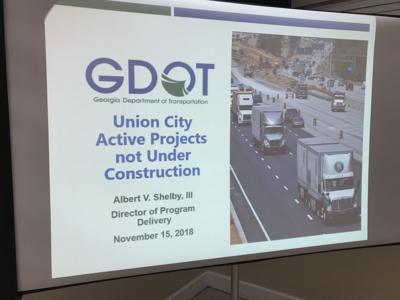 Union City GDOT not under construction