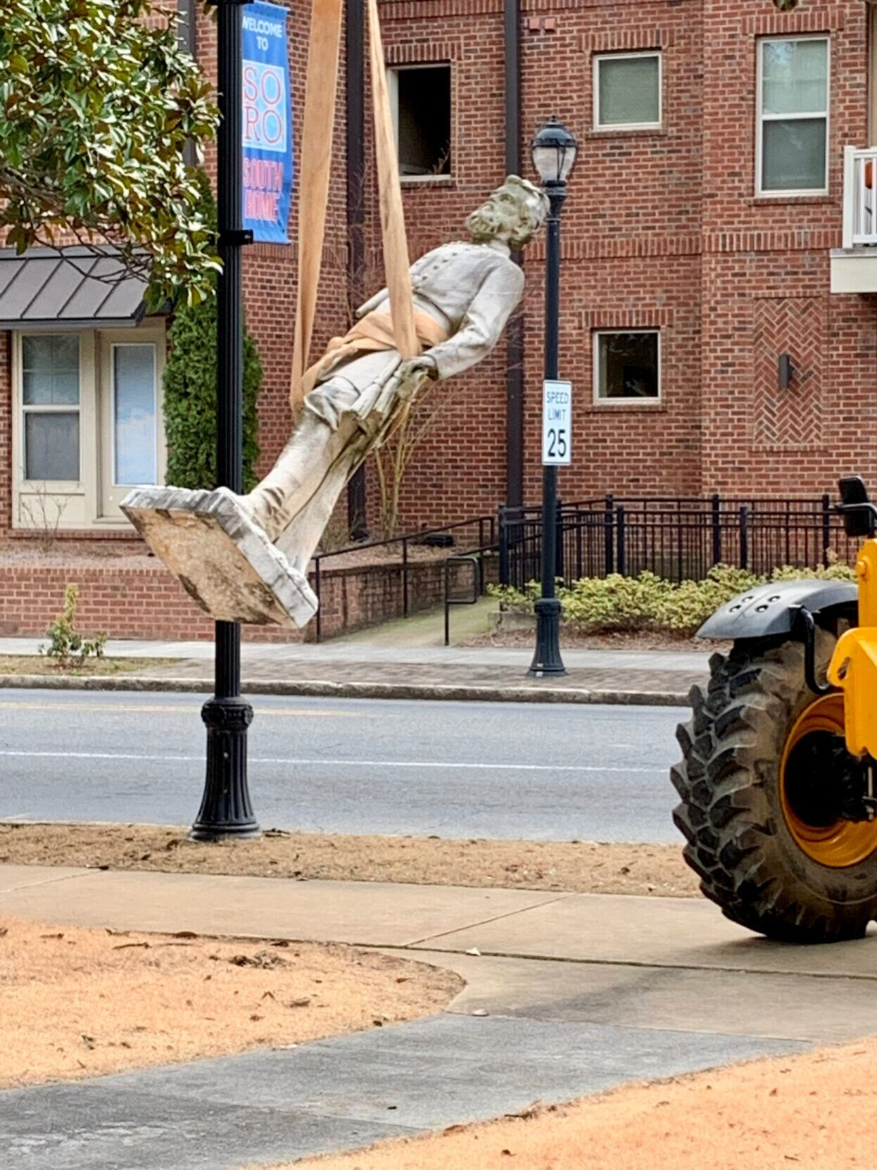 Statue of Confederate Gen. Nathan Forrest removed from Myrtle Hill Cemetery, put in storage