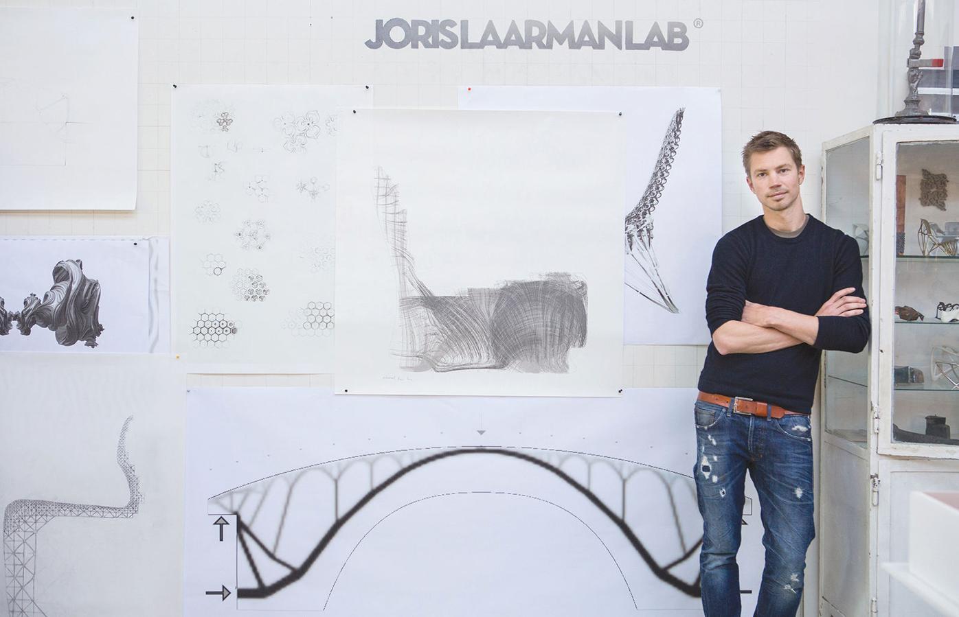 Joris Laarman Lab 1 Joris Laarman with plans