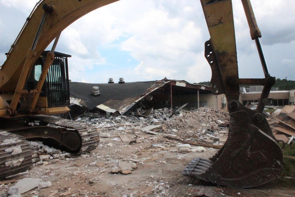 Demolition at Pepperell Middle begins