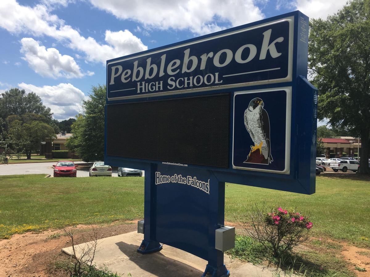 Pebblebrook HS sign