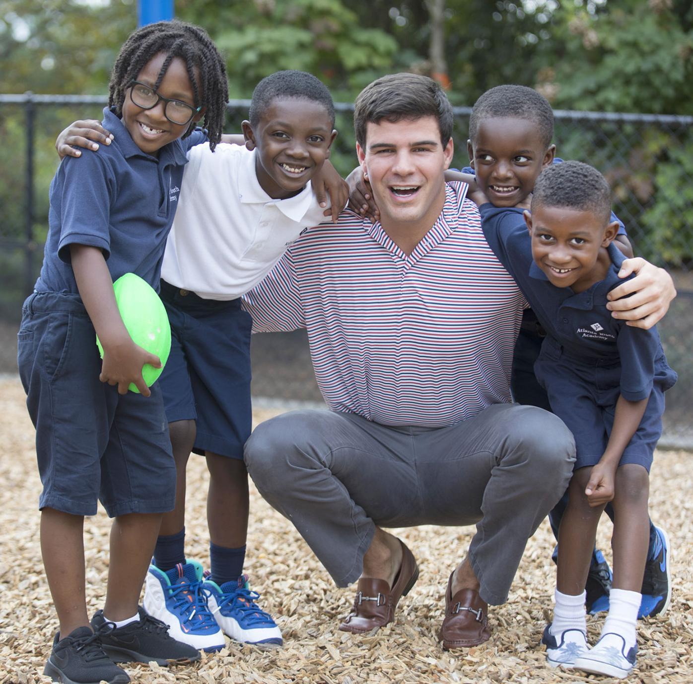 Atlanta Youth Academy 1 Chapman Wilkinson with students
