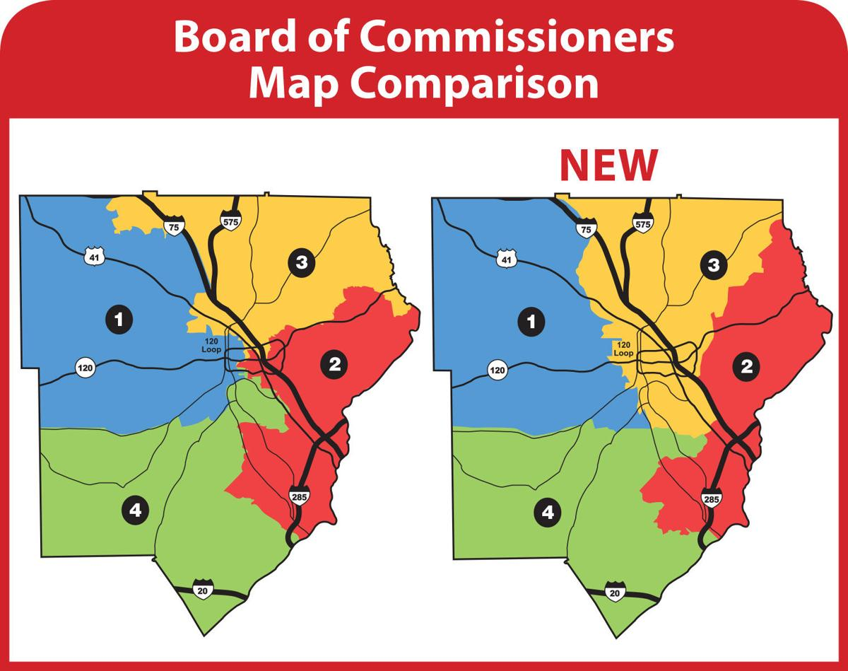 New Cobb Commission District Map Is Now In Effect News - Georgia voting map