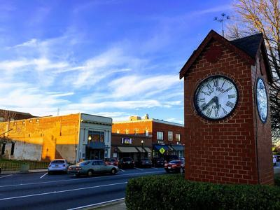 Clock tower downtown East Point