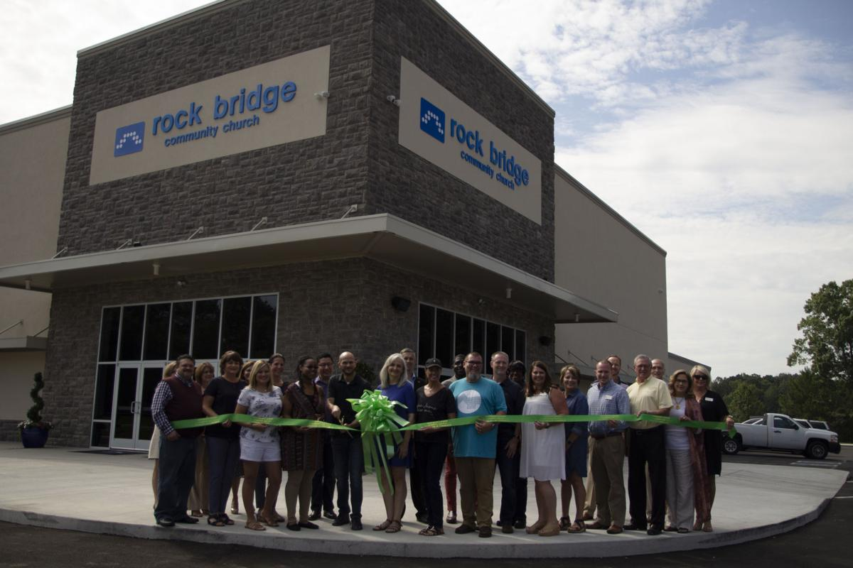 Rock Bridge ribbon cutting