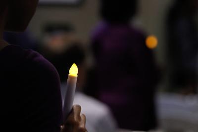 Partnership Against Domestic Violence vigil