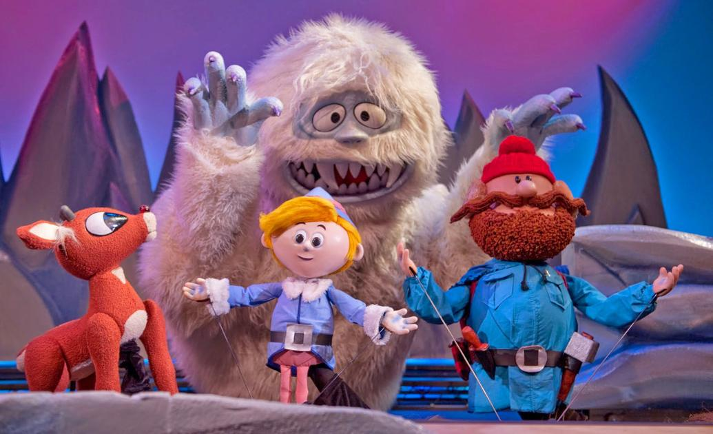 'rudolph the rednosed reindeer' flying back into puppetry