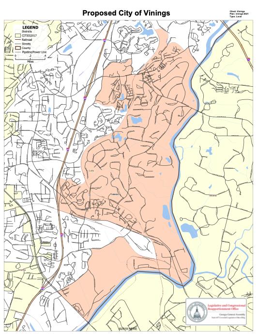 City of Vinings map