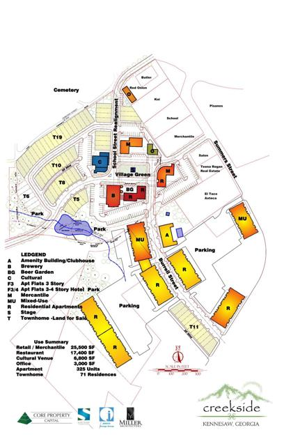 Map Of Georgia Kennesaw.Kennesaw Council Will Consider New Downtown Mixed Use Development