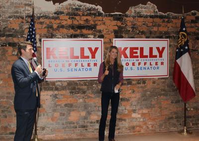 Luke Martin and Kelly Loeffler