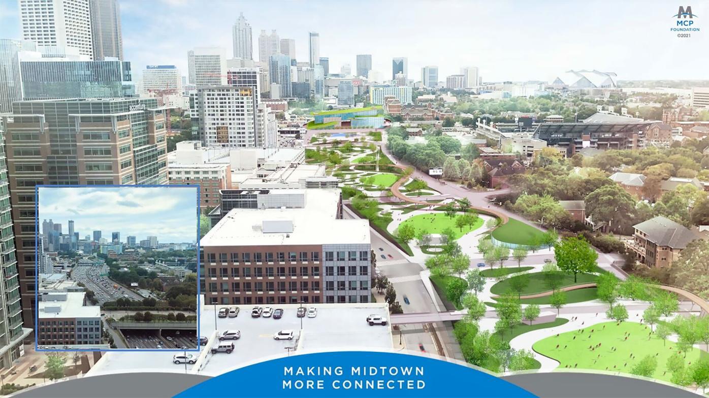 040721_MNS_Midtown_park_001A Midtown Connector Transportation Improvement Project park rendering