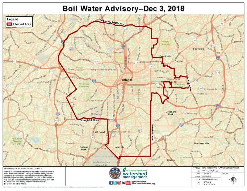 Boil Water Advisory Atlanta Map Atlanta lifts boil water advisory   News   mdjonline.com
