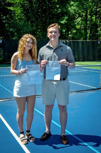 Tennis Scholarship recipients