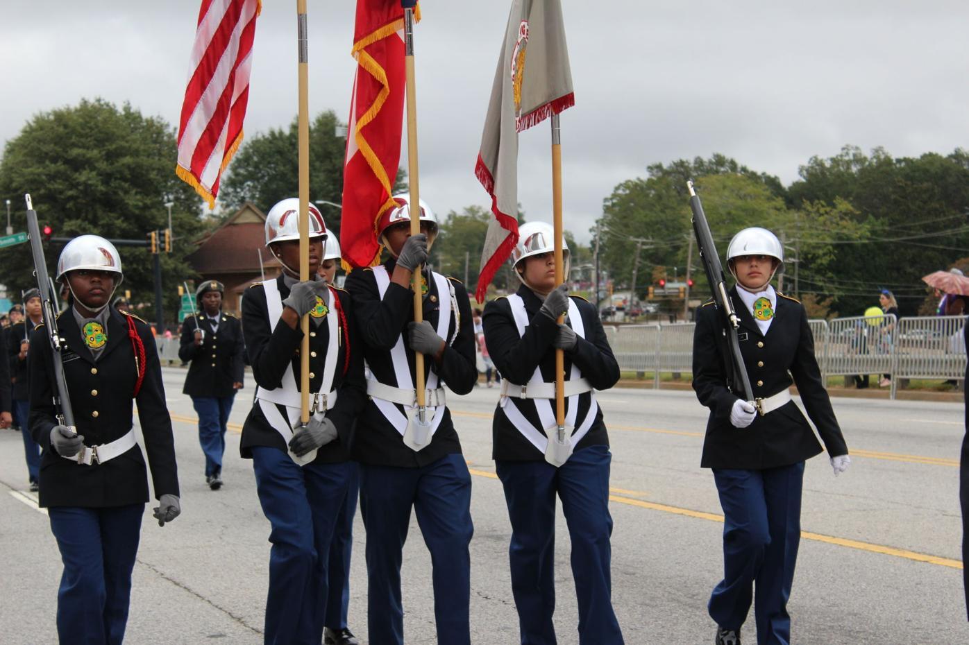 Langston Hughes color guard