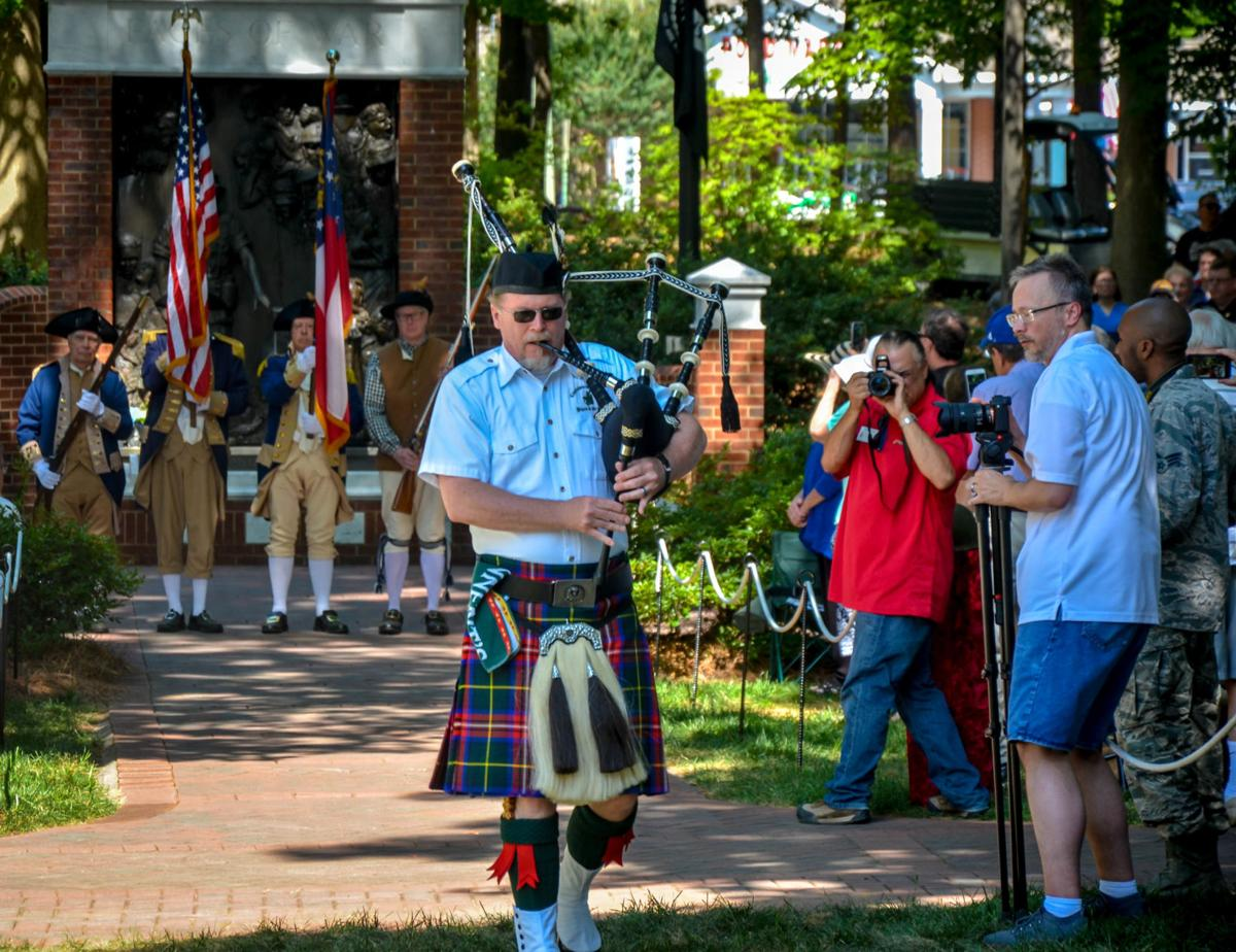 Bagpipes at Roswell Remembers