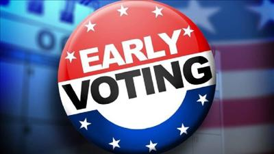 Early voting button 2018