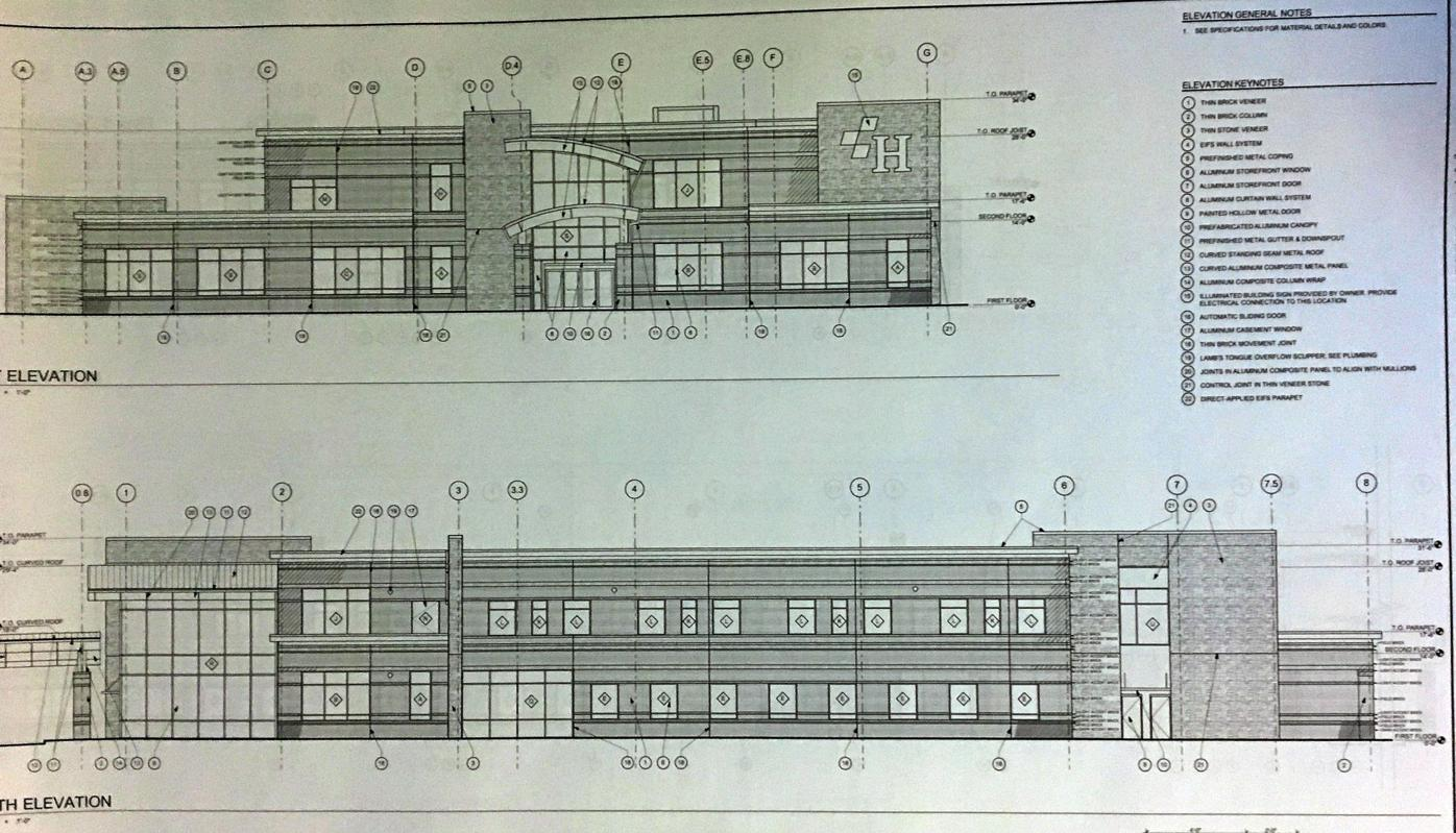 Drawings in for new harbin building