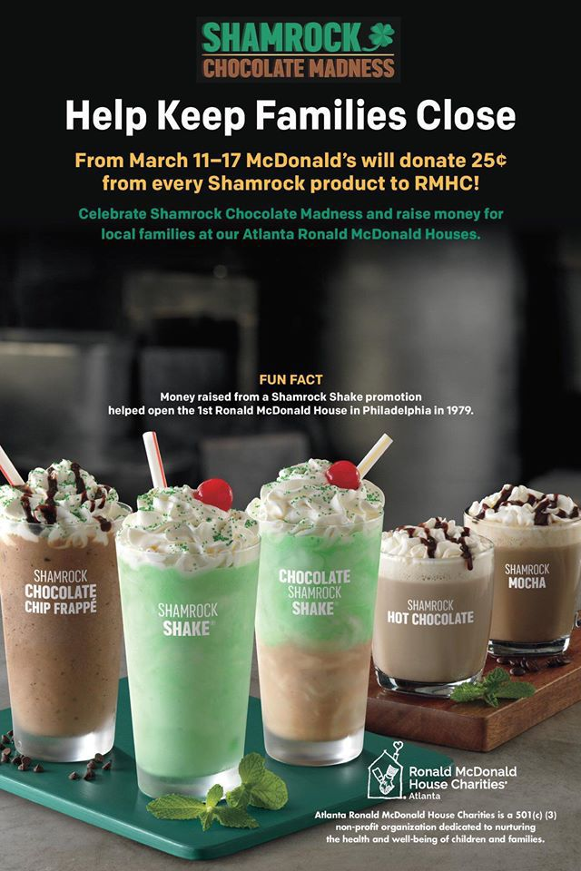 McDonald\'s Shamrock Chocolate Madness raising funds for charity ...