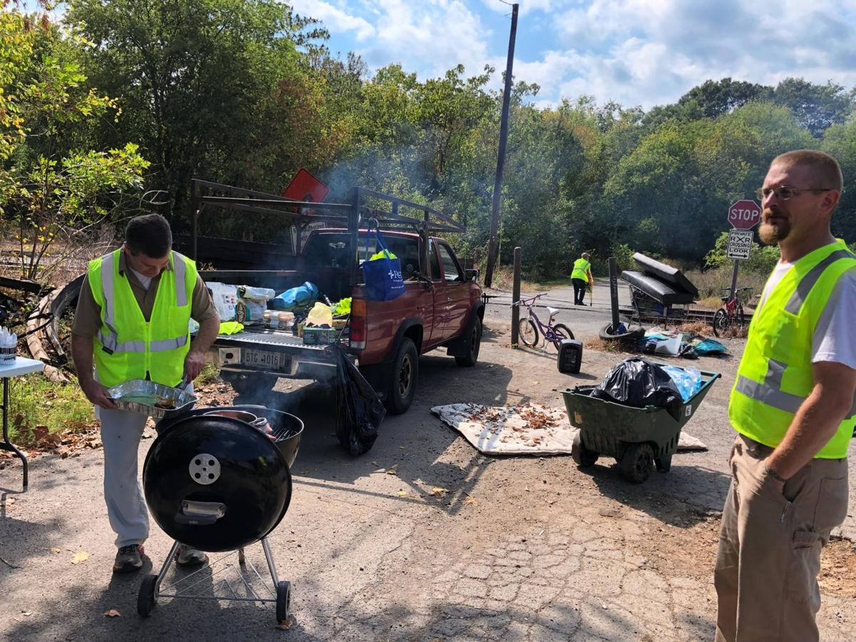 Homeless help clean up woods off Silver Creek Trail