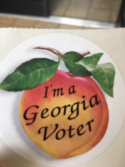 I'm a Georgia Voter sticker 2018