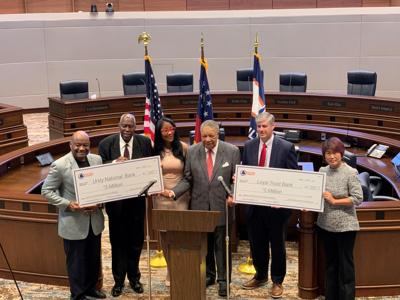 Chairman Pitts holds ceremony depositing $10 million in minority-owned banks