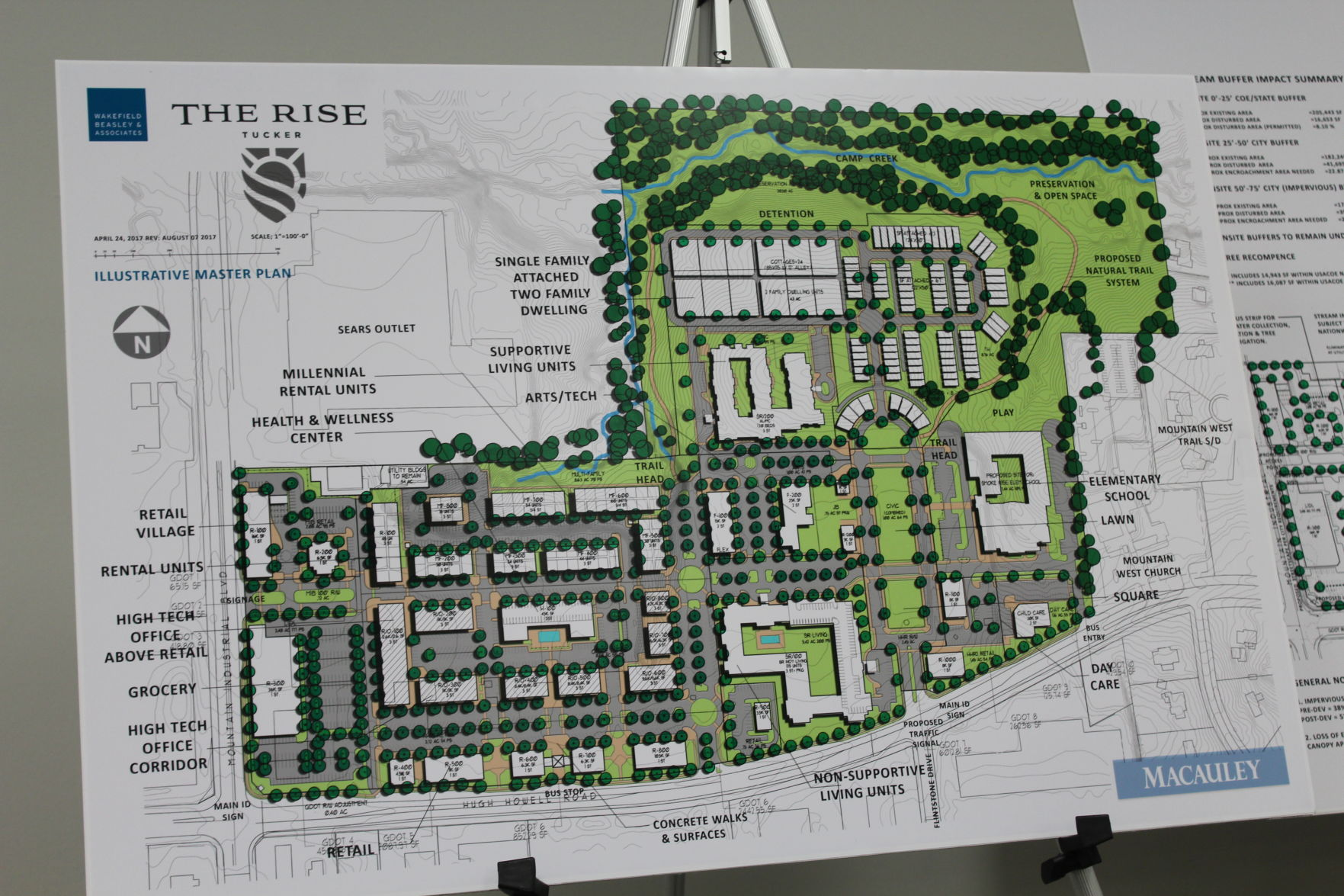Road Map Of Project%0A Support and concern rises as Tucker city council gets first public hearing  on mixeduse project