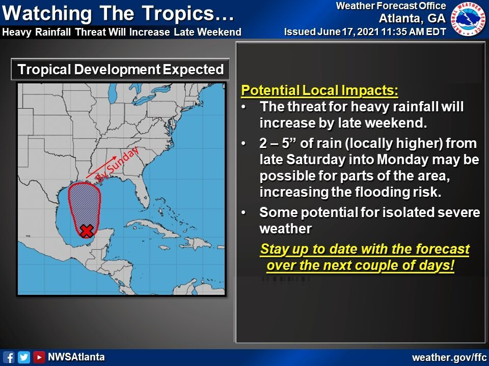 Weather: Weekend could see heavy rain, storms