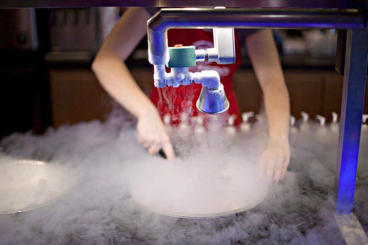 071719_MNS_ice_cream_002 Sub Zero Nitrogen Ice Cream employee