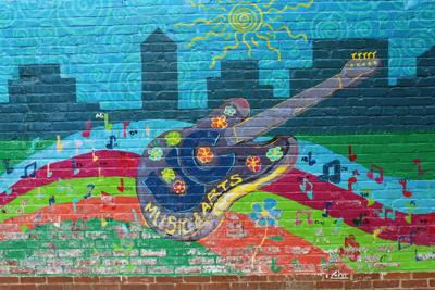 UC music and arts festival mural