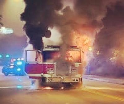 071421_MNS_fire_truck Engine 26 on fire