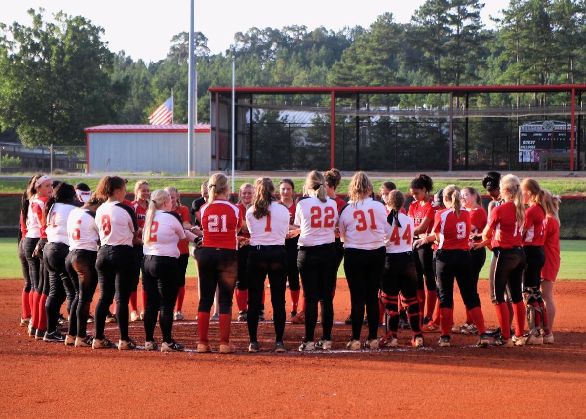 Cedartown Lady Bulldogs softball scrimmage