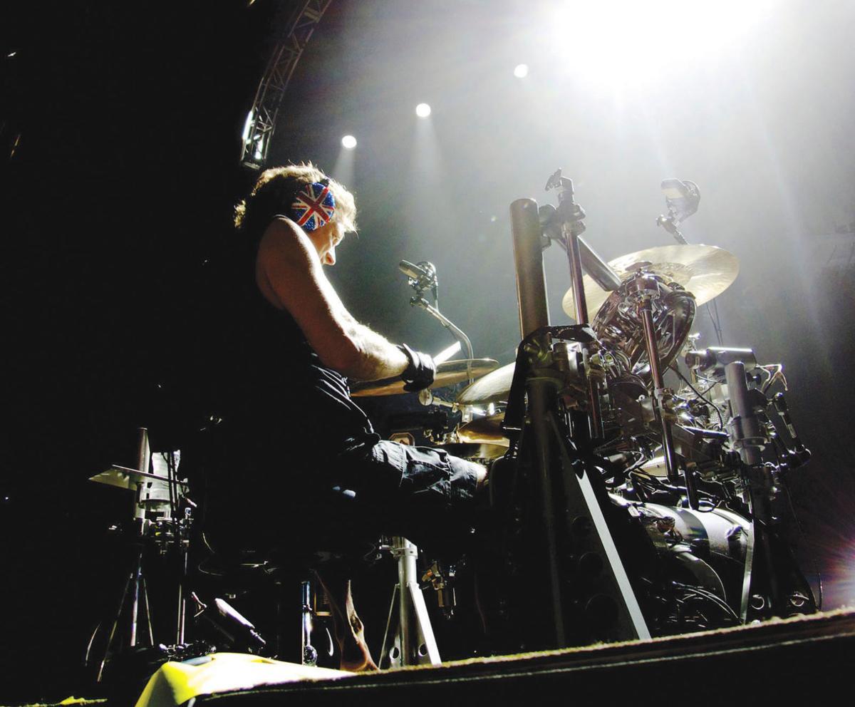 Rick Allen art 1 Rick Allen on drums