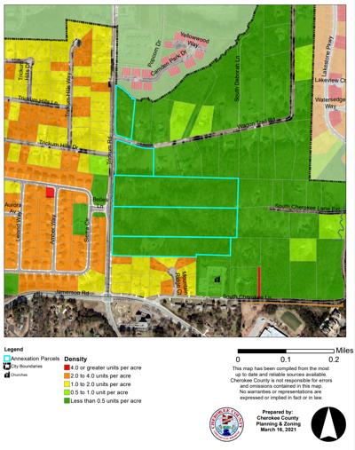 Trickum Road density map.png