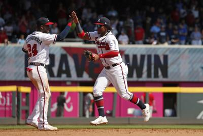 Phillies Braves Baseball