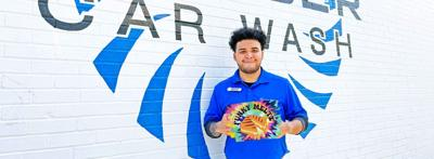 Caliber Car Wash employees are looking forward to celebrating with customers this Saturday!
