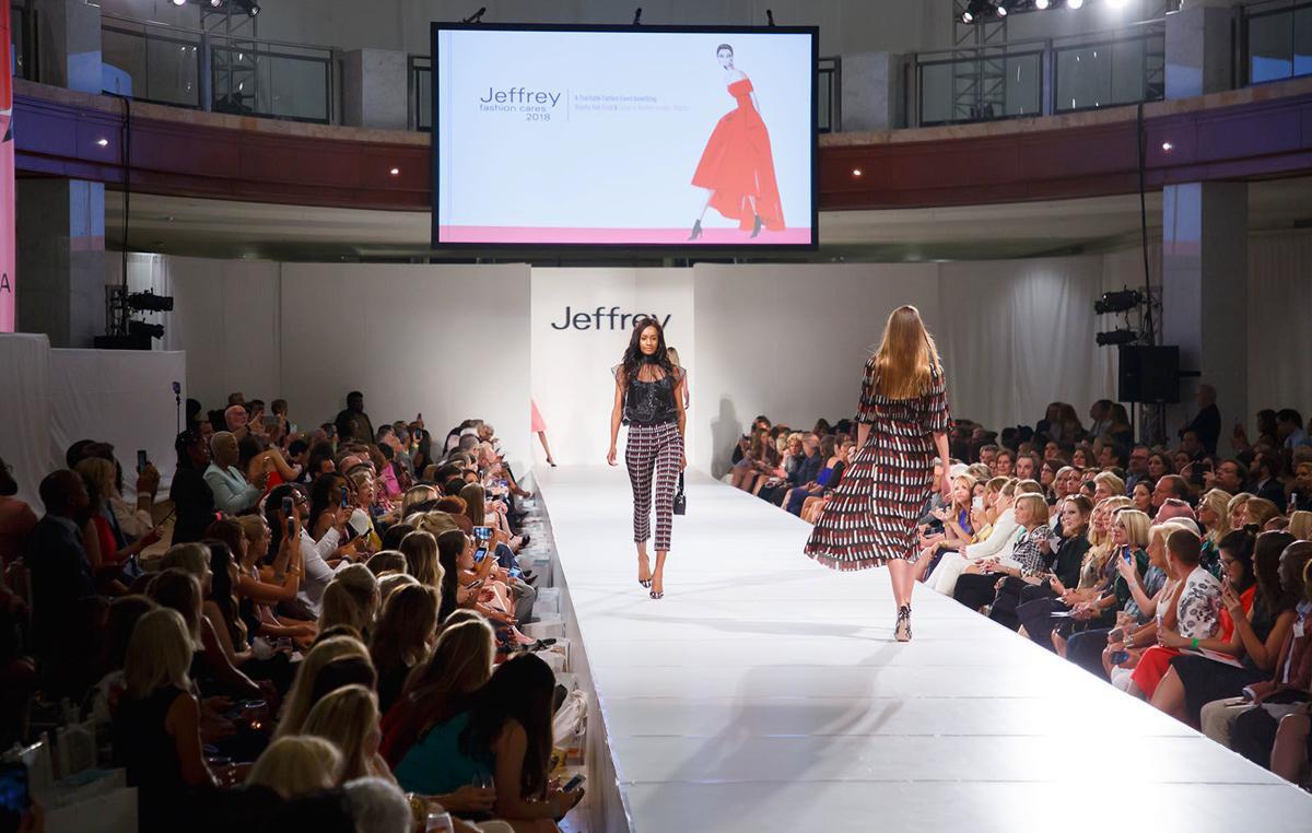 Full Jeffrey Fashion Cares 2 models on runway