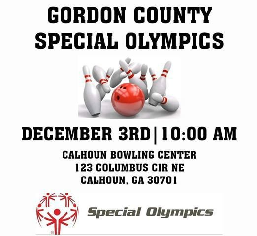 Special Olympics bowling poster