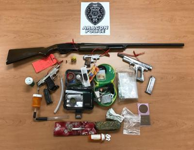 Aragon Police seize drugs, weapons in June arrest