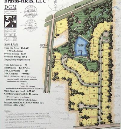 Brazos-Hicks development site plan
