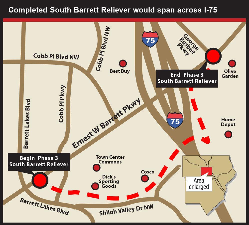 barrett reliever map