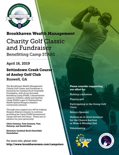 Brookhaven Wealth Management Charity Golf Classic and Fundraiser flyer