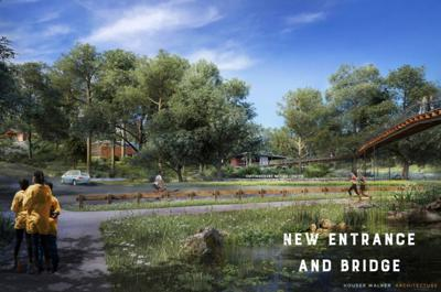 Rendering of new entrance and bridge