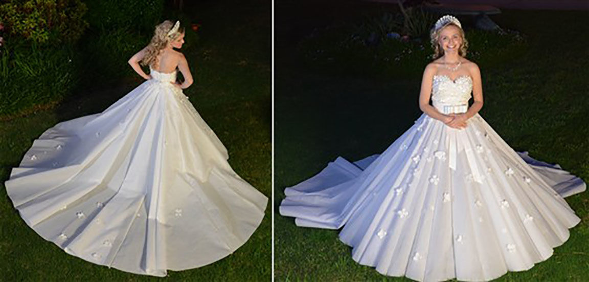 Kennesaw designer rolling into toilet paper dress competition | News ...