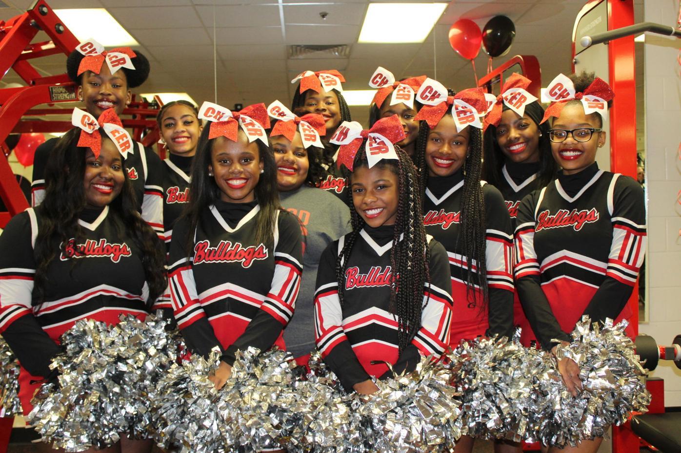 Tri-Cities cheer team