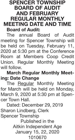 February Meeting Date and Time
