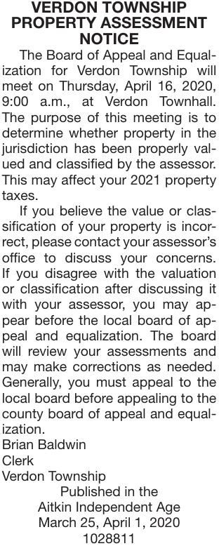 Property Assessment Meeting Notice