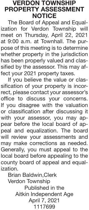 Assessment Notice